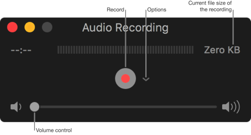 Record a Audio on your Mac