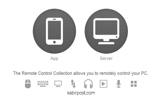 remote control collection server