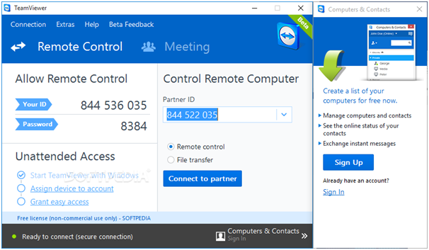control-your computer team viewer