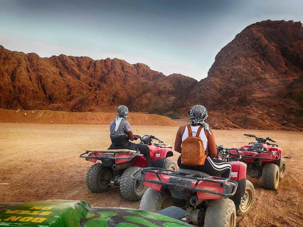 desert , atvs , stroll , sunset red bike , egypt , sand , excursion