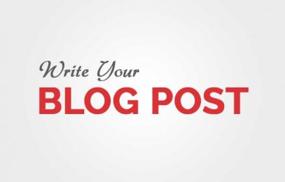 How To Write Your Blog Post.